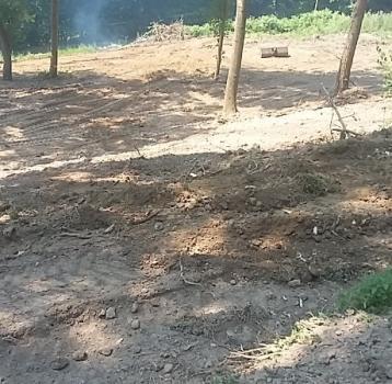 Chantier de nettoyage et de nivelage à Bouquelon