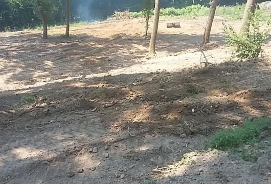 Chantier de nettoyage et de nivelage Bouquelon