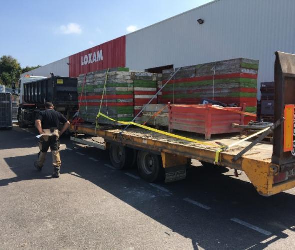 Transport de marchandises de panneaux béton de Rouen à Toutainville